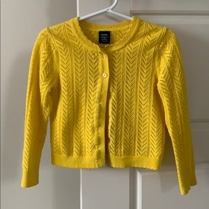 Gap Yellow Knit Cardigan